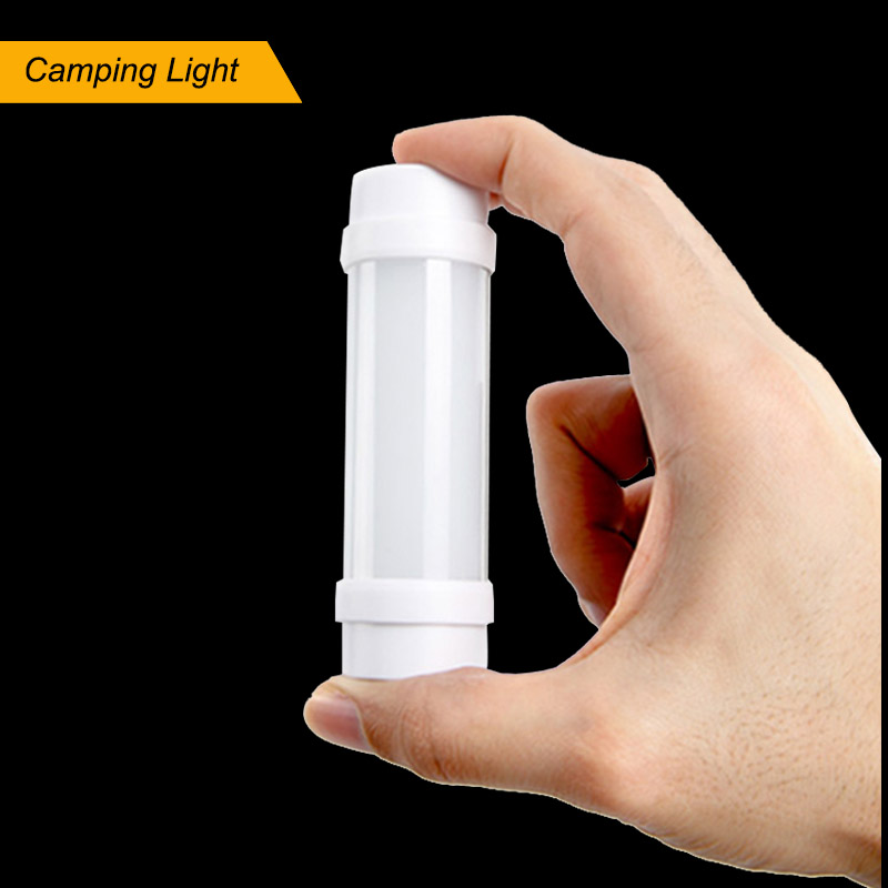 DINGDIAN LED Camping Light USB Rechargeable Lamp SOS Flashlight 5 Levels Dimmable Alumium Magnet Fishing Emergency Night Light in Portable Lanterns from Lights Lighting