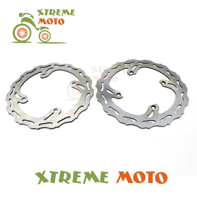 Front Rear Wavy Brake Disc Rotor Set For Suzuki RMZ 250 07-14 RMZ 450  05-14 RMX 450 10-11 Motocross Enduro Motorcycle Dirt Bike