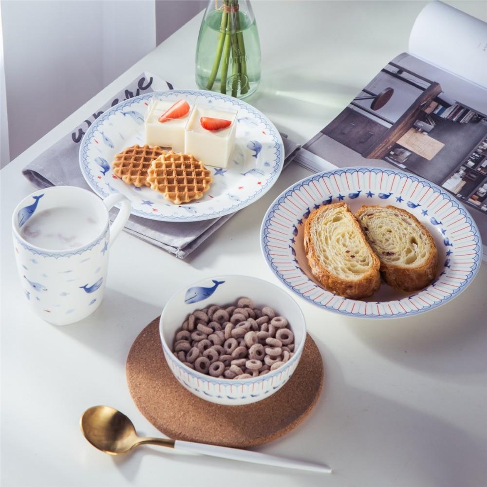 designer plates sets promotionshop for promotional designer  - inch flat plate and inch souppasta plate bowl mug ml new bone chinacute cartoon design free shipping