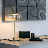 Fashion Design Creative Table Lamp Plated Gold Clear Glass LED Decoration table Lamp For Bedroom Living Room EU plug