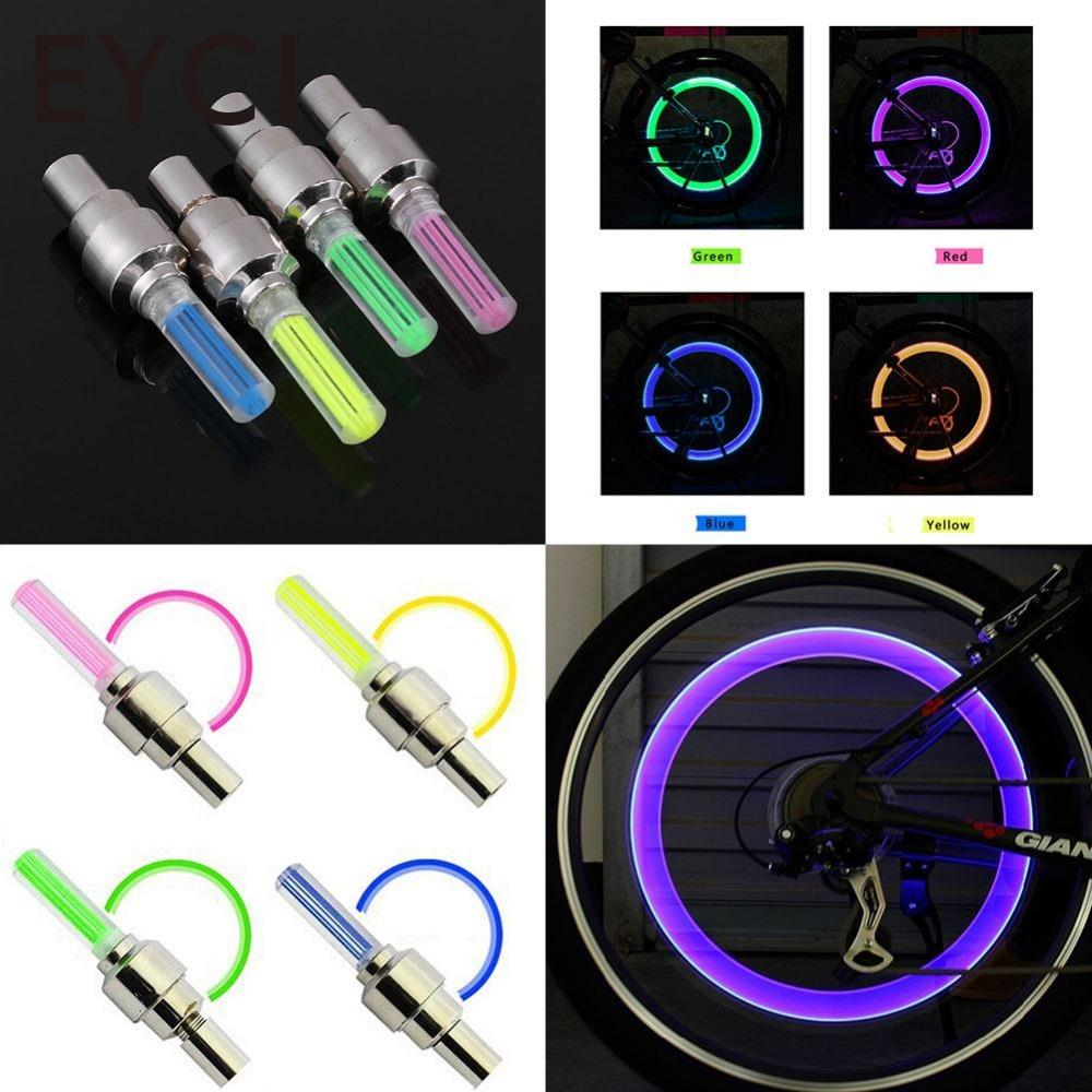 EYCI Bicycle Bike Car LED Neon Tire Wheel Gas Nozzle Valve Glow Stick Light Cycling