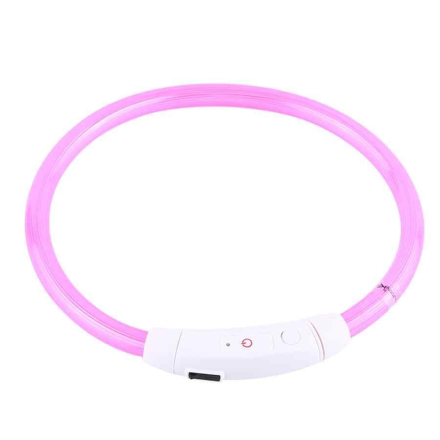 50 см перезаряжаемая Светодиодная трубка мигающего светового сигнала безопасность домашних животных, собак, ошейник для домашних животных, товары с USB