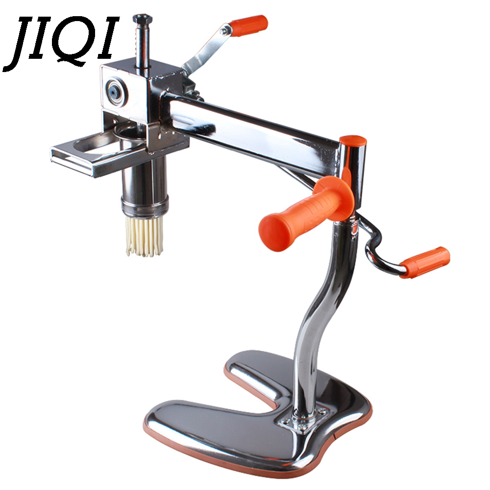 JIQI Pasta Manual Noodle Maker Handmade Spaghetti Noodles Pressing Machine Hand-Operated Dough Cutter Roller With Noodle Mould цена