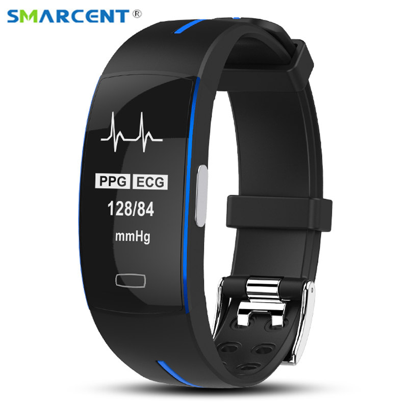P3 alta presión arterial Monitor de frecuencia cardíaca Smart Band PPG + ECG Smart Fitness pulsera reloj podómetro inteligente trayectoria GPS