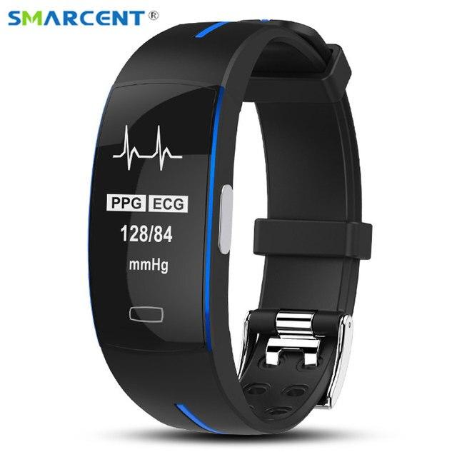 8cd03a7d743a P3 alta presión arterial Monitor de frecuencia cardíaca Smart Band PPG +  ECG Smart Fitness pulsera reloj podómetro inteligente trayectoria GPS