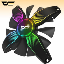Aigo darkflash aurora fan LED 120mm Desktop PC Computer Kühlung Kühler Silent Doppel Halo Fall Fan 12 V fan 3pin + 2pin fans(China)