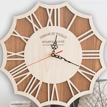 Large Wall Clock Modern Design Silent Living Room Watch Antique Wood Decor Decorations Clocks Zegar Farmhouse588