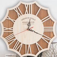 Large Wall Clock Modern Design Silent Living Room Watch Antique Wood Decor Wall Decorations Clock Wall Clocks Zegar Farmhouse588