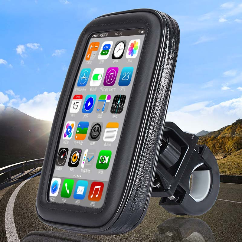 Motorcycle riding mobile phone support bicycle mobile phone support waterproof bag mountain bike motorcycle carrier roswheel mtb bike bag 10l full waterproof bicycle saddle bag mountain bike rear seat bag cycling tail bag bicycle accessories