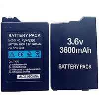 3600mAh Battery Pack for Sony PSP 2000 PSP 3000 PSP2000 PSP3000 PlayStation Portable Rechargeable Batteries 3.6V Power Bateria