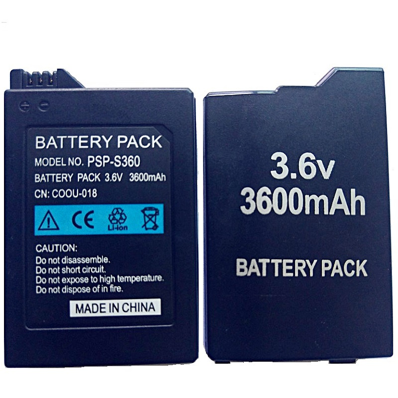 Batterie 3600mAh pour Sony PSP 2000 PSP 3000 PSP2000 PSP3000 PlayStation Batteries rechargeables portables 3.6V batterie d'alimentation