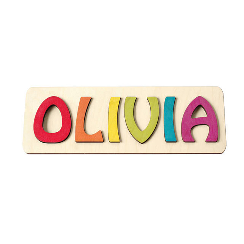Personalized Custom Wood Wooden Name Puzzle Board Sign Baby Shower 1st Christmas Birthday Gift Toy Bedroom Wall Door Decorations