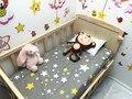 Promoción! 3 unids Kitty Mickey bebé kit de cama cuna pieza juego de cama cuna 100% algodón, ( funda nórdica + hoja + funda de almohada )