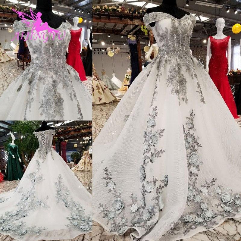 AIJINGYU Irlandese Abiti Da Sposa Medievale Abiti Bridals A Buon Mercato Uk Plus Size Diserbo 2018 Rosa Vestito Sexy Abito Da Sposa - 2