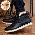 NALIMEIZU Marca Caliente Más Nuevo Mantener A Los Hombres Calientes Botas de Invierno de Alta Calidad de la pu de Cuero Casuales Botas de Trabajo Botas Fahsion Zapatos Esenciales