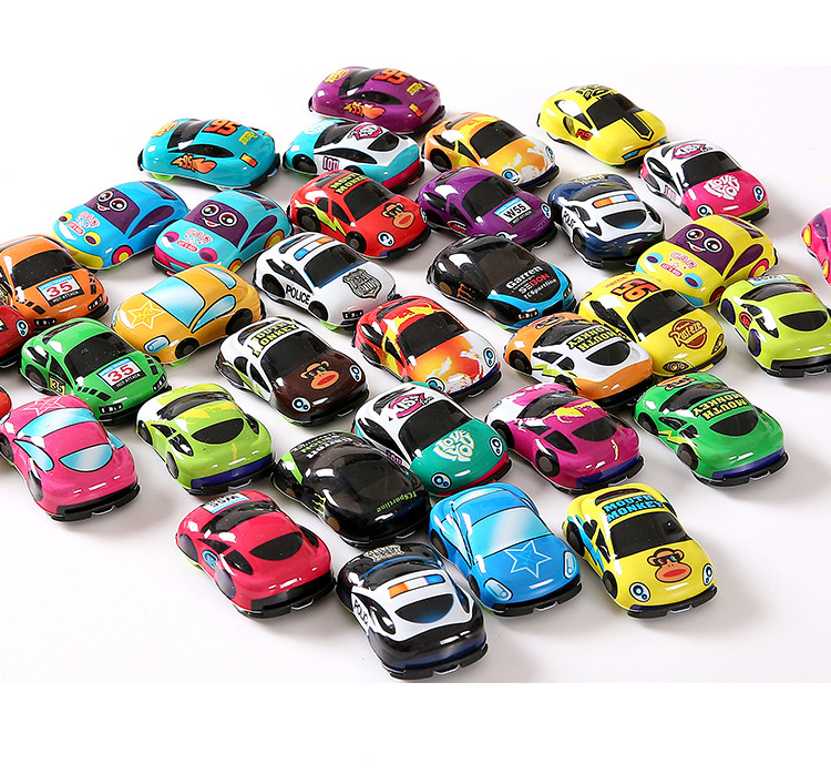 10pcs/lot Cartoon Toys Cute Plastic Pull Back Cars Toy Cars For Child Wheels Mini Car Model Funny Kids Toys For Boys Girls