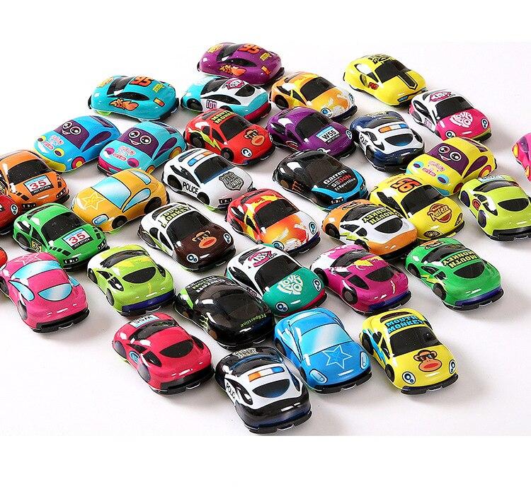 10pcs/lot Cartoon Toys Cute Plastic Pull Back Cars Toy Cars For Child Wheels Mini Car Model Funny Kids Toys For Boys Girls
