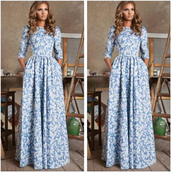 Hot Desigual Vestido European Floral Print Long Sleeve Full Length Long  Dress Slim Robe Femme Club Party Dresses Women Clothing aff9123ea