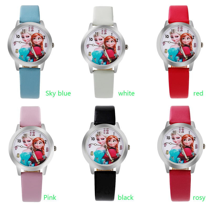 Relogio Feminino 2019 New Relojes Cartoon Children Watch Princess Watches Fashion Kids Cute Rubber Leather Quartz Watch Girl