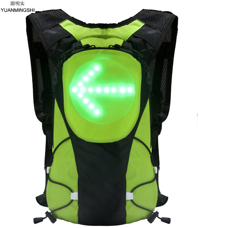YUANMINGSHI High Visibility Gear Backpack Bag Reflective Cycling Motorcycle Backpack Bag With Remote Control for Night Cycling