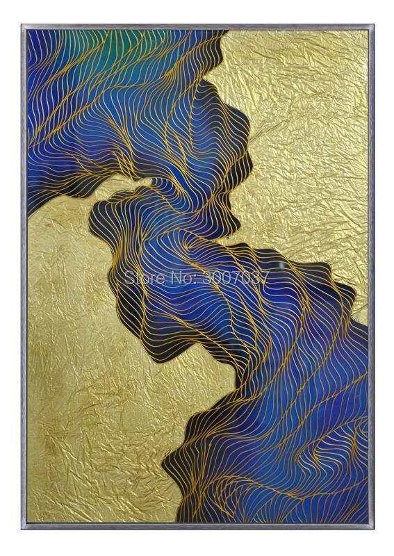 Без рамы Большой расписанную Современные полиметилметакрилата живопись на органических Стекло Абстрактная живопись на акрил пластины