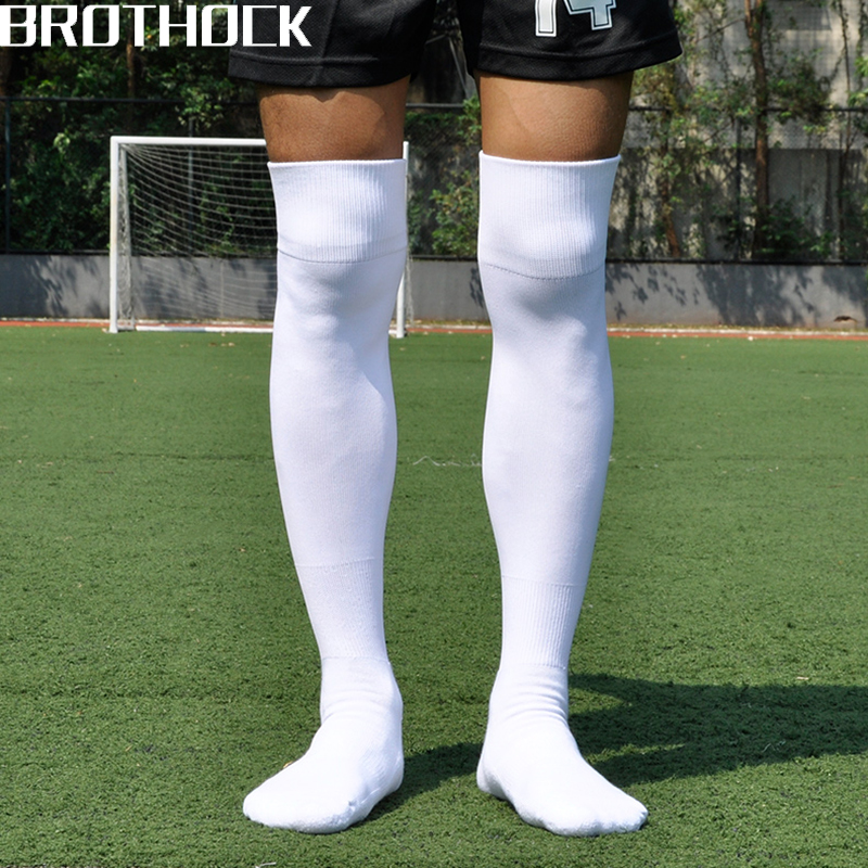 Brothock Adult Football Socks Long Male Thickening Towel Bottom Sports Socks Non-slip Sweat Training Soccer Football Stockings