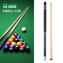 13MM Cue Tip Green Hardwood Maple Billiard Pool Cue Stick Double Joints Durable Comfortable Cue Stick Sports Entertainment