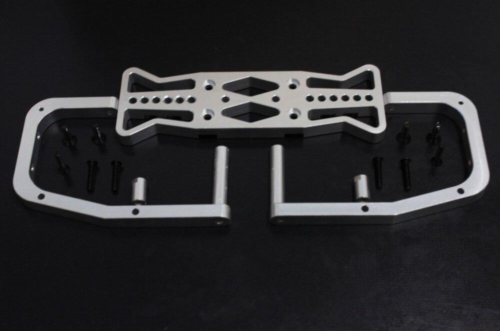 baja alloy rear bumper (sliver color) baja alloy alloy rear wing