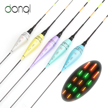 DONQL New Design 5Pcs/lot LED Luminous Electronic Fishing Float Colorful Light High Quality Night Fishing Float Without Battery