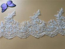 9Yards High Quality Guipure Lace Trim Cheap French Embroidery Lace Trim for Lady Dress Y07
