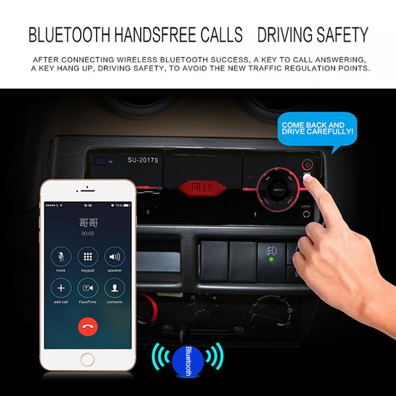 ePathChina Car Stereo with Bluetooth Hand-free Audio Stereo MP3 Player FM Radios Support USB//SD MMC with Remote Control 12V 60W x 4