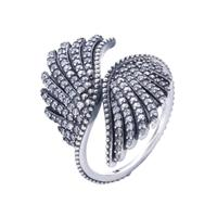 Ajax 100% 925 Sterling Silver Angel Wing Finger Ring For Girls Luxury Female Rings