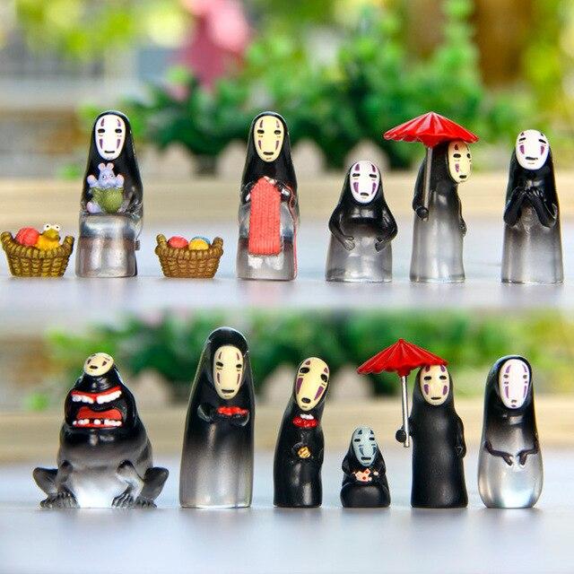 13pcs/lot Hayao Miyazaki Spirited Away No Face Various Shapes PVC Action Figures Toy Japan Anime
