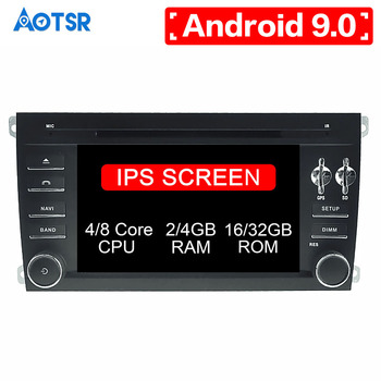 Android 9.0 8 core Car DVD CD player GPS Navigation For Porsche Cayenne 2003-2010 Multimedia system radio Auto radio Stereo