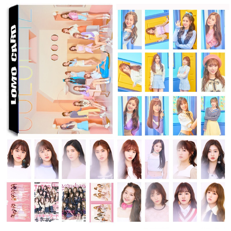 New 30Pcs/set KPOP IZONE Girls Team Album La Vie En Rose Photo Card PVC Cards Self Made LOMO Card Photocard