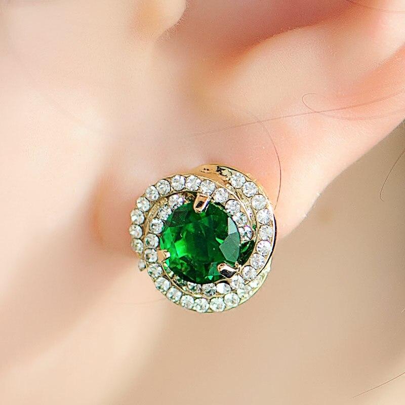 Vrouwen bruiloft Mu Xia nieuwe oor sieraden crystal oorbellen vrouwelijke sterren OL wind 100 Korea verjaardagscadeau sieraden ornamenten collocati - 2