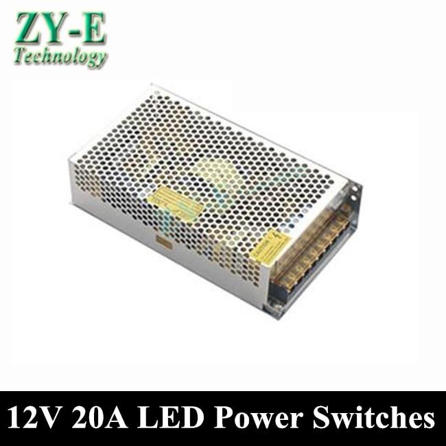 240 W 12 V 20A alimentations à découpage alimentation pilote pour LED bande de lumière affichage AC110V-240V entrée 12 V sortie livraison gratuite