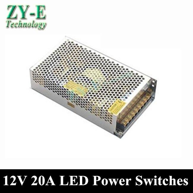 240 W 12 V 20A alimentations alimentation à découpage pilote pour LED light Strip affiche AC110V-240V entrée 12 V sortie livraison gratuite