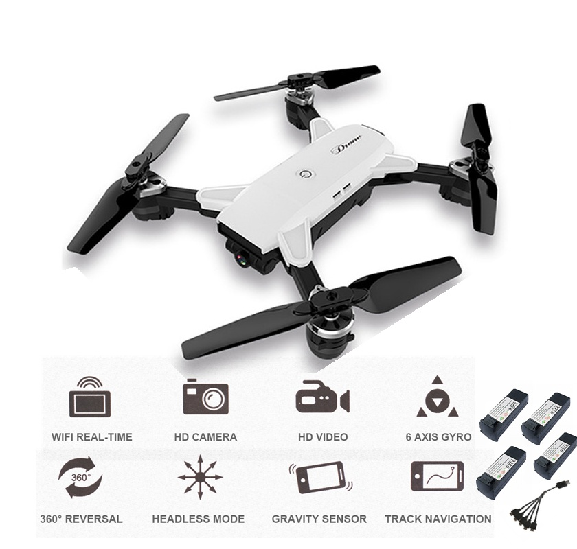 Selfie Drone With Camera Rc Drone 4ch Rc Helicopter Foldable Fpv Quadcopter Remote Control Toy For Kids Vs Visuo Xs809hw Xs809w jjrc h47 elfie drone dron foldable rc pocket selfie drones with wifi fpv 720p hd camera quadcopter helicopter remote control toy
