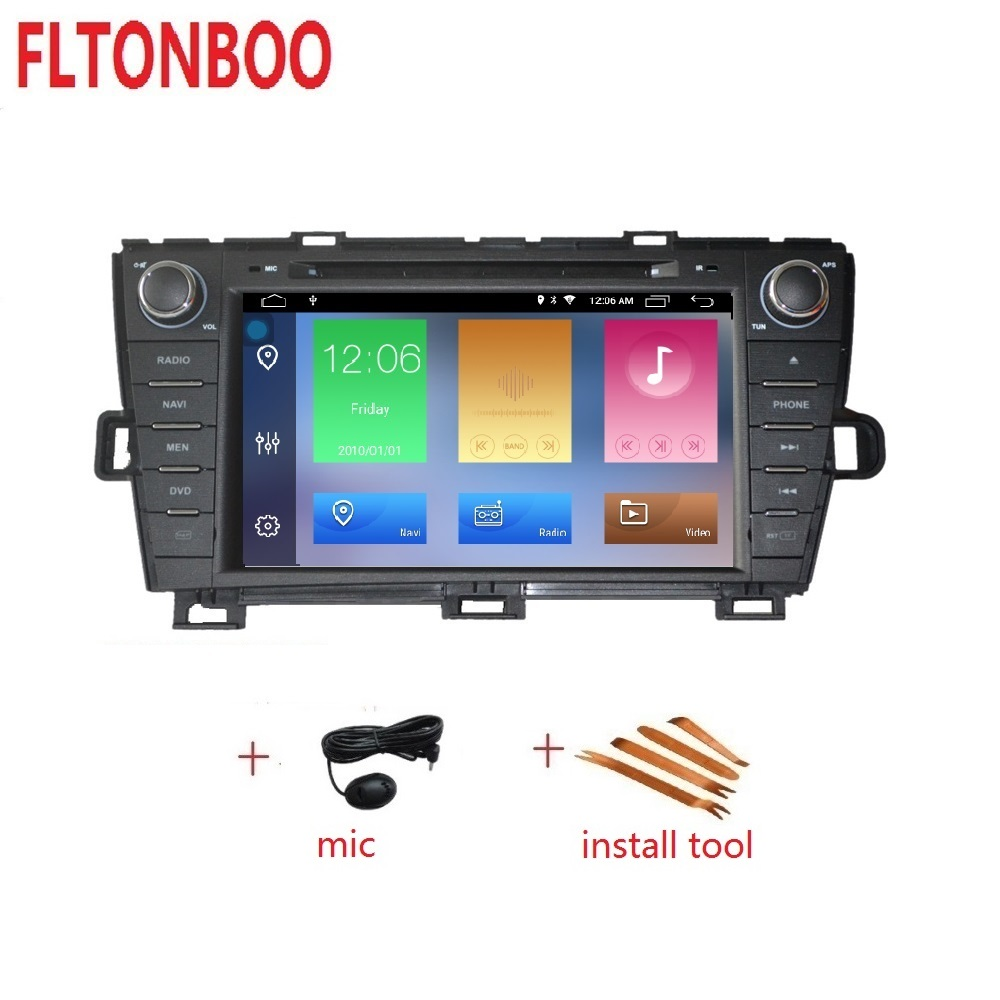8 Android 9 Car GPS Navigation radio dvd player for Toyota prius right bluetooth steering wheel