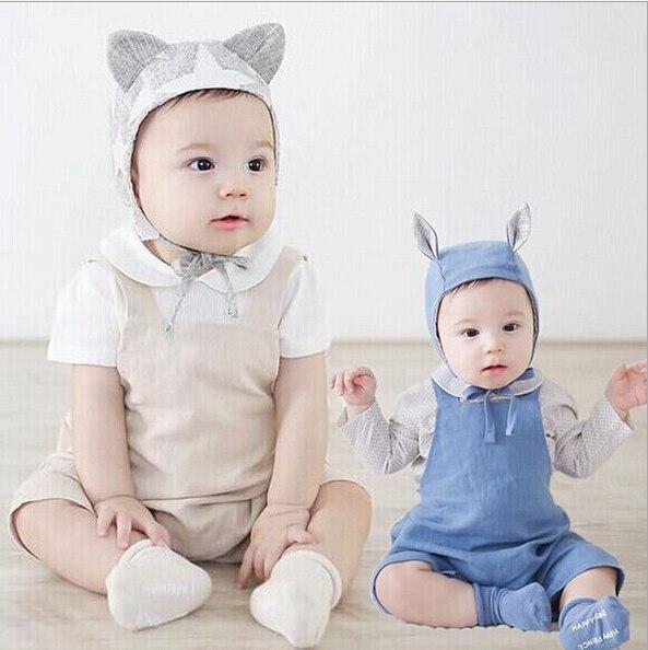 Gratis Verzenden Kinderkleding.Nieuwe Zomer Kinderkleding Linnen Katoen Bandjes Shorts Baby Romper