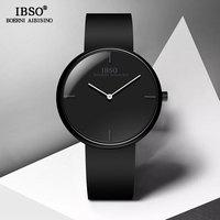 IBSO Brand Luxury Mens Watch Male Silicone Strap Quartz Watches High Quality Man Convex Design Sport Wristwatch