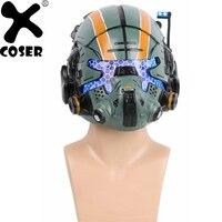 XCOSER Фирменная Новинка Titanfall 2 Jack Cooper шлем игра Косплэй полный маска голова Для мужчин прохладный вечерние Косплэй реквизит шлем с светодиодн