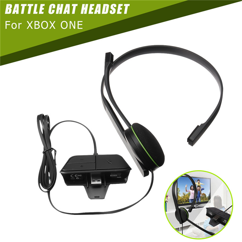 120cm Chat Headset Headphone Wired Gaming Single Side Earphone With Microphone Built in Adapter For Xbox One Game Accessory