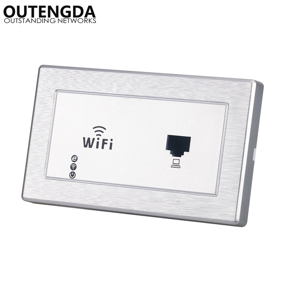 120 type US standard 120*70mm in wall wireless access point for hotel samrt home wifi router Repeater with RJ45 image