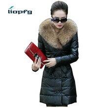 Women Winter PU Jacket Thicken Leather Jackets Slim Warm PU Coats Fur Collar Double Breasted Women Suede Jackets WM518