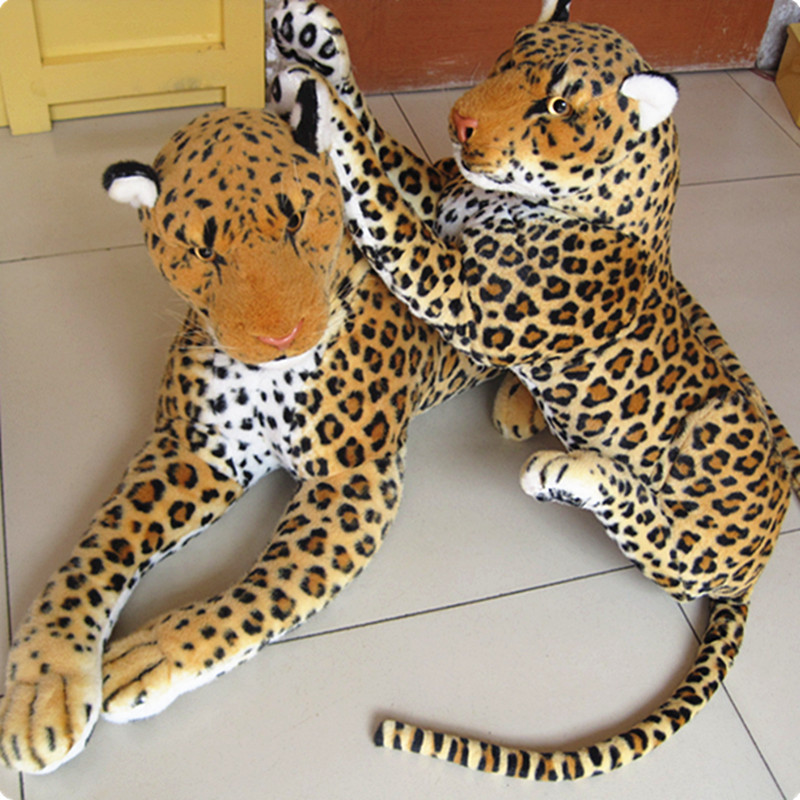 big Artificial animal leopard lion hot selling plush toy doll simulation leopard doll about 88cm 0470