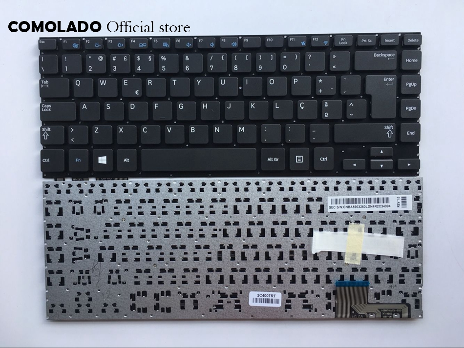 PO Portuguese <font><b>keyboard</b></font> for <font><b>Samsung</b></font> <font><b>NP530U4E</b></font> NP540U4E 530U4E Black <font><b>Keyboard</b></font> PO Layout image