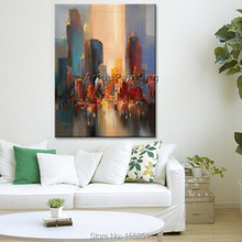 Paris City Painting Home Decor Decoration Oil painting Wall Pictures for living room paint art 2