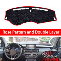 Rose Pattern For kia forte 2018 Dashboard Cover Car Stickers Car Decoration Car Accessories Interior Car Decals